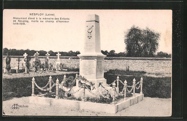 AK Nesploy, monument élevé á la mémoire des enfants de Nesploy