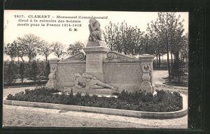 AK Clamart, monument commémoratif élevé á la mémoire des soldats 1914-1918