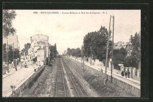 AK Bois-Colombes, aveneue Bellevue et rue des Aubépines