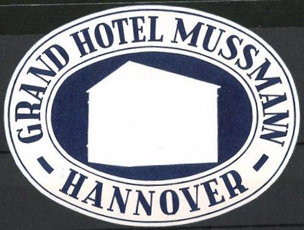 kofferaufkleber hannover grand hotel mussmann hotelgeb ude gesamtansicht nr 6193588. Black Bedroom Furniture Sets. Home Design Ideas