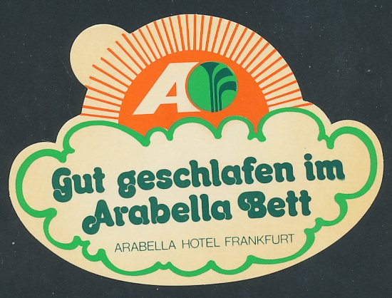 kofferaufkleber frankfurt arabella hotel gut geschlafen im arabella bett nr 6193681. Black Bedroom Furniture Sets. Home Design Ideas