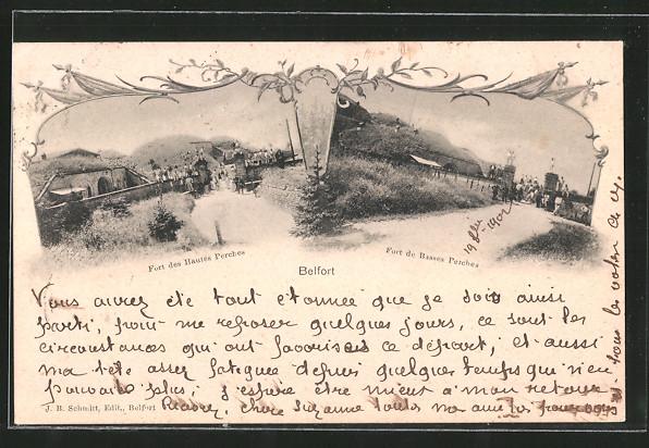 AK Belfort, Fort des Hautes Perches, Fort de Basses Perches
