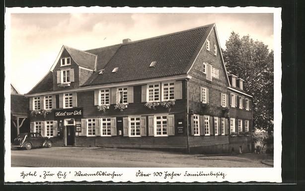 AK Wermelskirchen, Hotel zur Eich v. Fr. F. Jörgens Nr. 6195891 ...