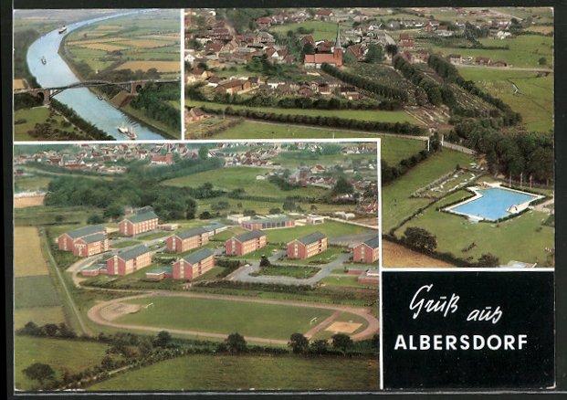ak albersdorf nord ostsee kanal m gr nenthaler hochbr cke bad und bundeswehrkasernen nr. Black Bedroom Furniture Sets. Home Design Ideas