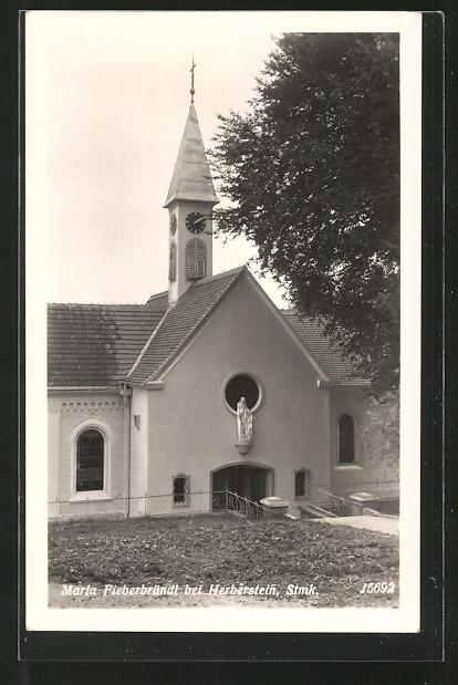 AK Herberstein, Partie an der Kirche Maria Fieberbründl
