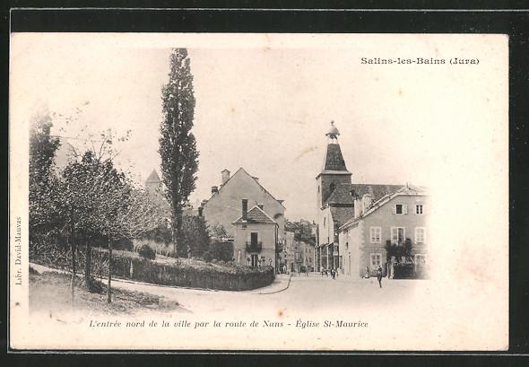 AK Salins les Bains, L'entrée nord de la ville par la route de Nans