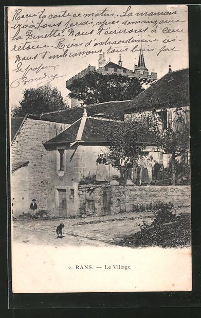 AK Rans, Le Village, Le Château au dernier plan