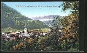 AK Obervellach, Ortsansicht gegen das obere Mölltal