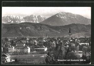 AK Klagenfurt, Blick über die Stadt auf Koschutta