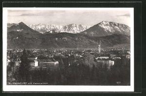 AK Klagenfurt, Teilansicht der Stadt mit Karawanken