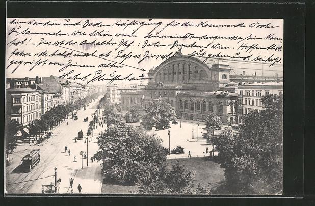 AK Berlin-Kreuzberg, Königgrätzer Strasse, Anhalter Bahnhof