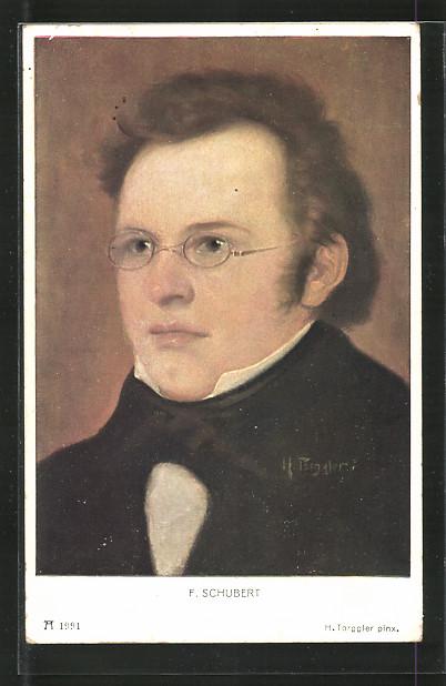 Künstler-AK Porträt Komponist Franz Schubert