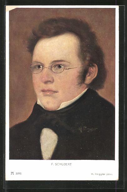 Künstler-AK Portrait Komponist Franz Schubert