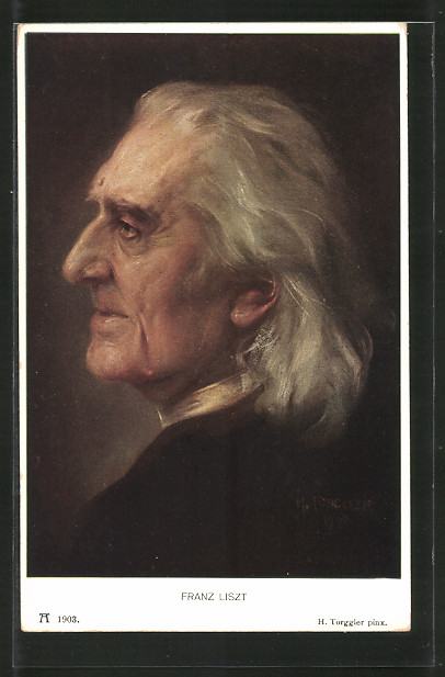 AK Seitenprofil des Komponisten Franz Liszt