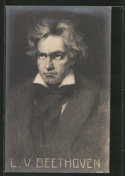 AK Portrait des Komponisten Ludwig van Beethoven