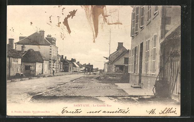 AK Saint Lyé, La Grande Rue, Carrosse