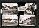 AK Erzhausen, Bahnhof, Kirche, Sportheim, Schule