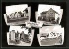 AK Stockheim, Strassenpartie, Schule, Ehrenmal, Neues Viertel