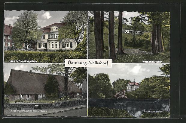 ak hamburg volksdorf amalie sieveking haus waldd rfer bahn nieders chsisches bauernhaus nr. Black Bedroom Furniture Sets. Home Design Ideas
