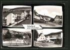 AK Kombach, Wiesenhofstrasse, Ortspartie, Kinderspielpaltzpartie und Dorfgemeinschaftshauspartie