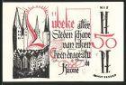 Notgeld L�beck 1921, 50 Pfennig, Ortswappen, Ortsansicht