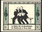 Notgeld M�lsen-St. Jakob 1921, 50 Pfennig, 2 M�nner stossen mit Bierkrug an