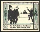 Notgeld M�lsen-St. Jakob 1921, 50 Pfennig, Polizist mit Gefangenem, Kadi