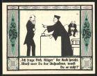 Notgeld M�lsen-St. Jakob 1921, 50 Pfennig, Richter befragt Kl�ger