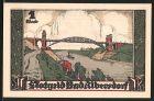 Notgeld Bad Albersdorf 1922, 1 Mark, Ortswappen, Nordostseekanal