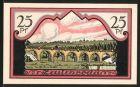 Notgeld Zeulenroda 1921, 25 Pfennig, Wappen, Br�ckenpartie