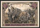 Notgeld Hohenfriedeberg, 50 Pfennig, Kirche, Soldaten am 5 Juni 1745