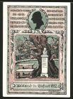 Notgeld Tiefurt 1921, 75 Pfennig, Denkmal, Herzogin Anna Amalie