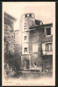 ak barjac la tour du chateau nr 6230157 oldthing ansichtskarten europa belgien frankreich. Black Bedroom Furniture Sets. Home Design Ideas