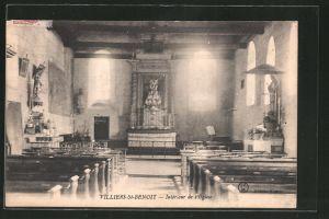 AK Villiers-Saint-Benoit, intérieur de l'église