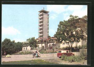 AK Berlin-Köpenick, Müggelturm, Terrasse der Gaststätte