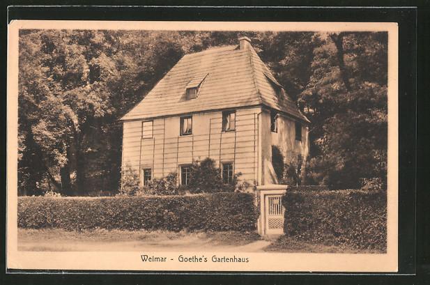 ak weimar goethe 39 s gartenhaus nr 6245071 oldthing adel pers nlichkeiten. Black Bedroom Furniture Sets. Home Design Ideas
