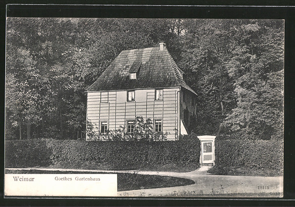ak weimar goethes gartenhaus nr 6245088 oldthing adel pers nlichkeiten. Black Bedroom Furniture Sets. Home Design Ideas