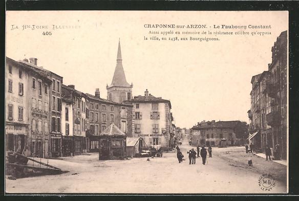AK Craponne-sur-Arzon, le Faubourg Constant