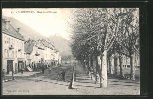 AK Albertville, Quai des Allobroges, Radfahrer