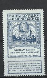 Reklamemarke Mainz, Mainzer Volks-und Jugendbücher, Wilhelm Kotzde