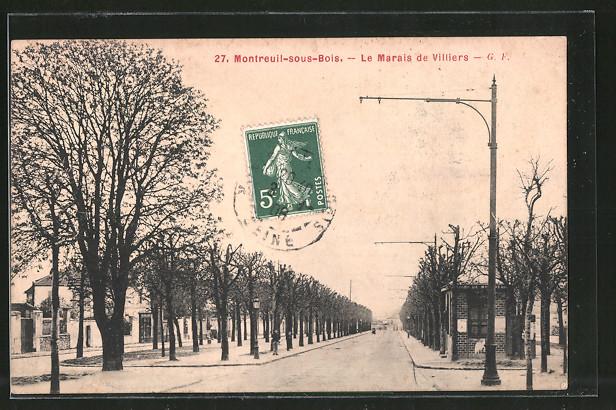 AK Montreuil-sous-Bois, Le Marais de Villiers