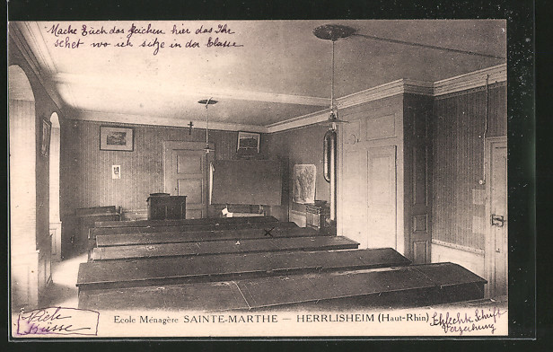 Ak herrlisheim ecole m nag re sainte marthe int rieur nr for Interieur 51 berlin