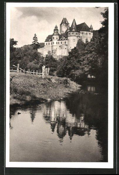 AK Mayen, Bachpartie mit Blick auf Schloss Bürresheim