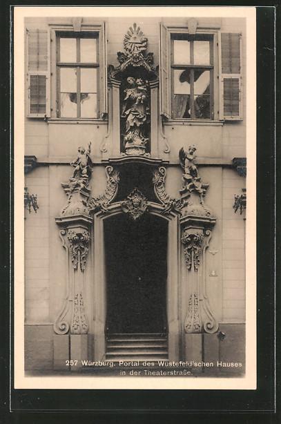AK Würzburg, Portal des Wüstefeld'schen Hauses