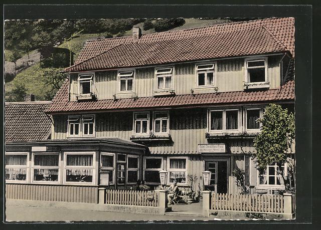 AK Zorge Hotel Pension Deutsches Haus v E Neubert