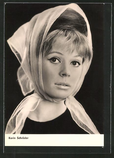AK Schauspielerin <b>Karin Schröder</b> mit Kopftuch 0 <b>...</b> - AK-Schauspielerin-Karin-Schroeder-mit-Kopftuch