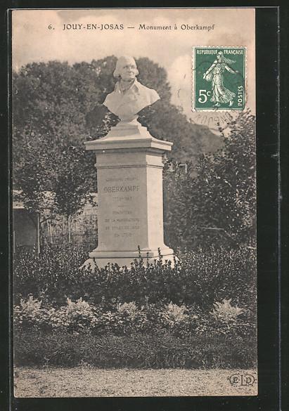 AK Jouy-en-Josas, monument à Oberkampf