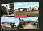 AK Dreihausen, Kirche, Schule, Ehrenmal und Ortspartie