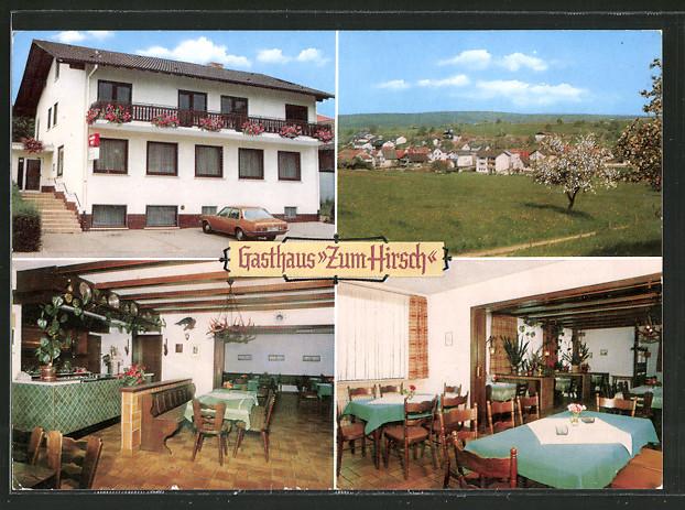 Ak Bad König Gasthaus Zum Hirsch Bes Fam Schäfer