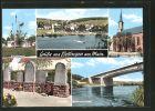 AK Bettingen, Schiffermast, Kirche, Denkmal und Autobahnbr�cke